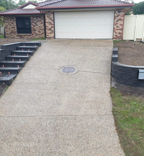 Strathpine Steps and Driveway