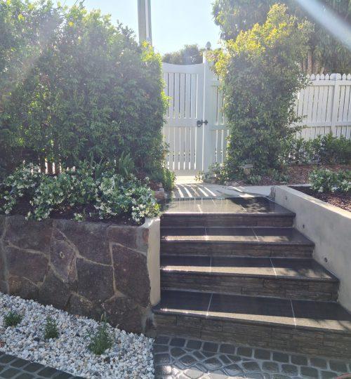 Sandgate Steps using Granite Tiles
